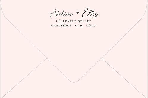 Printed Envelope   Adaline