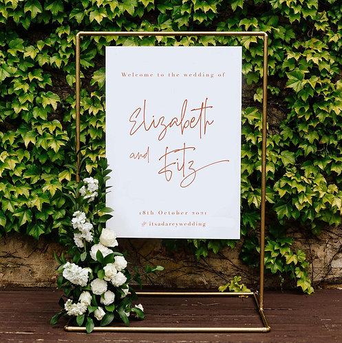 Elizabeth Welcome Sign