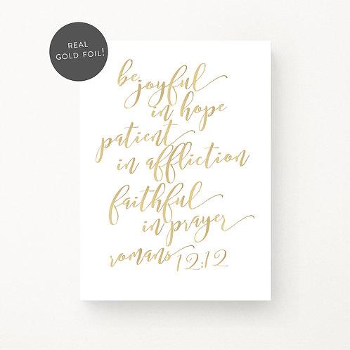 Inspired Prints | Be Joyful