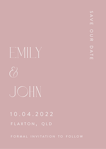 Emily Save the Date