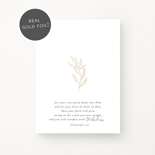 Inspired Prints   Roots   Gold Foil