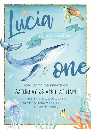 Kids Birthday Invitations | Under the Sea