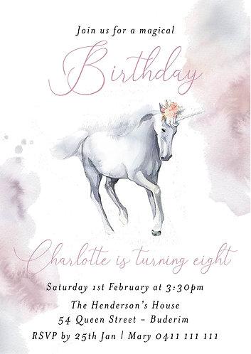Kids Birthday Invitations | Magical Unicorns
