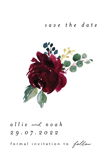 Allie Save the Date