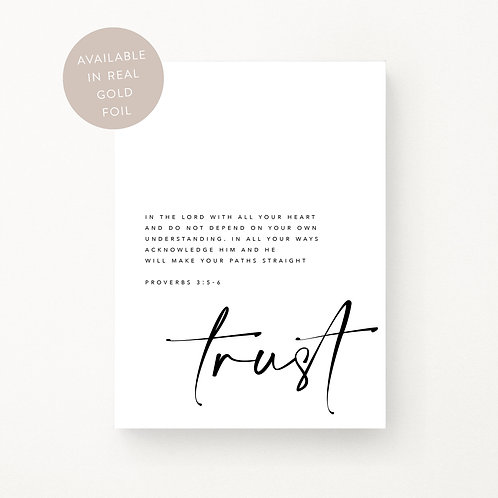 Inspired Prints | Trust