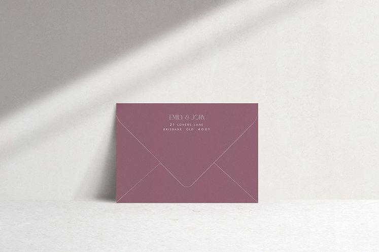 Emily Printed Envelope