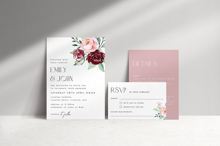 Emily 3 Card Package