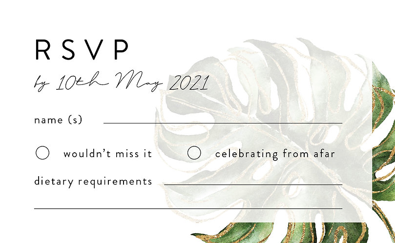 Olivia RSVP Card + Envelope