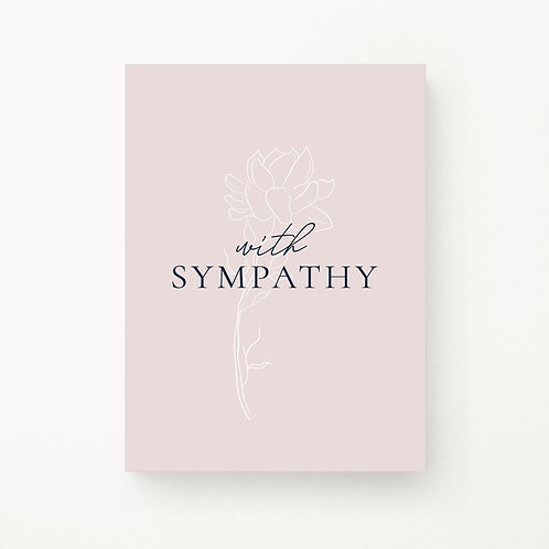 Greeting Cards | Floral Outline With Sympathy