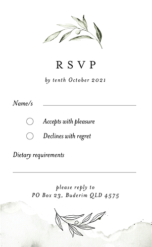 Sienna RSVP Card + Envelope