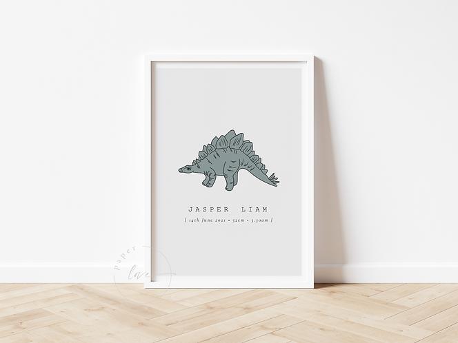 Dino Birth Print   Jasper