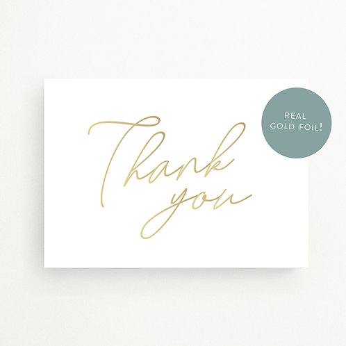Greeting Cards | Gold Script Thank You