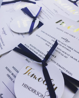 Paper Love Invites   Personalised menus and name tags gold foil
