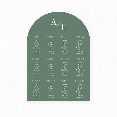 Adaline Seating Chart