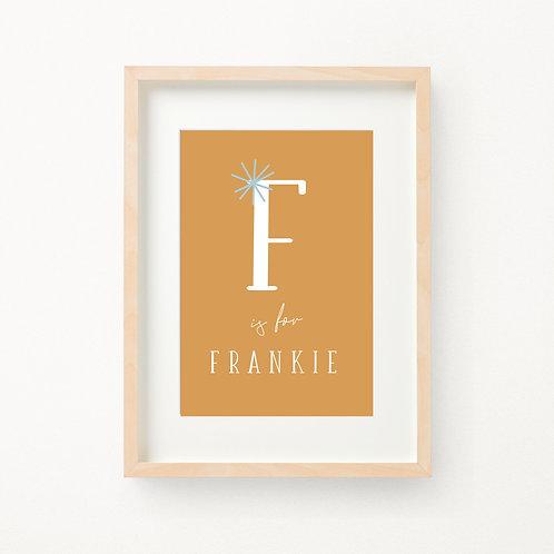 Initial Birth Print   Frankie