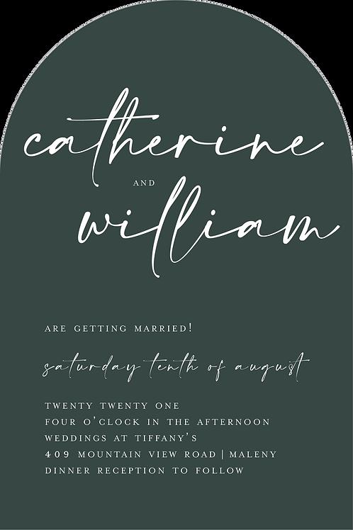 Wedding Invitation | Catherine