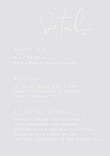Grace Details Card