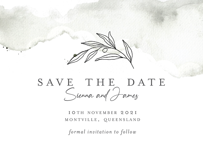 Sienna Save the Date