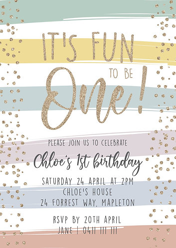 Kids Birthday Invitations | Rainbow