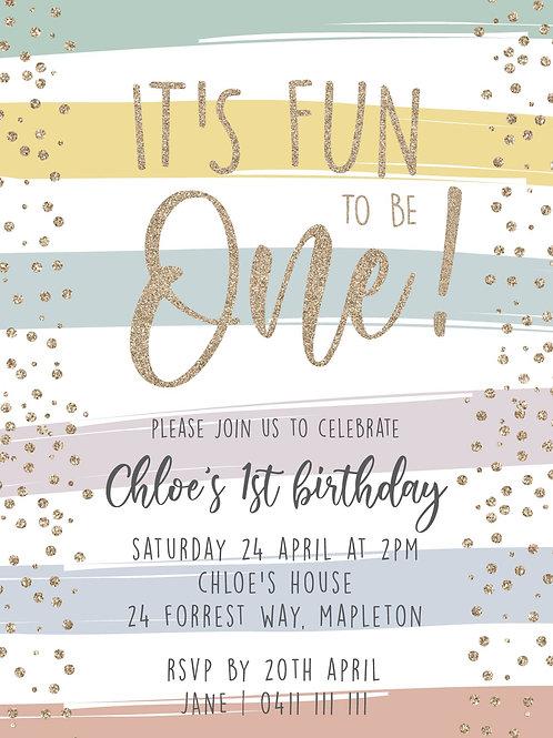 Kids Birthday Invitations | Rainbow