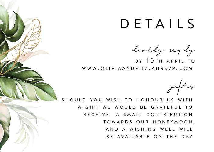 Olivia Details Card