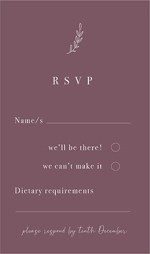 Adaline RSVP Card