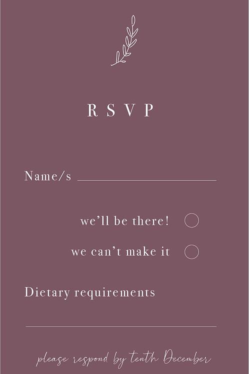 Wedding RSVP Card | Adaline