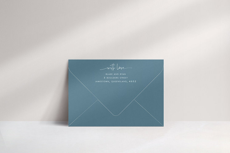 Blake Printed Envelope