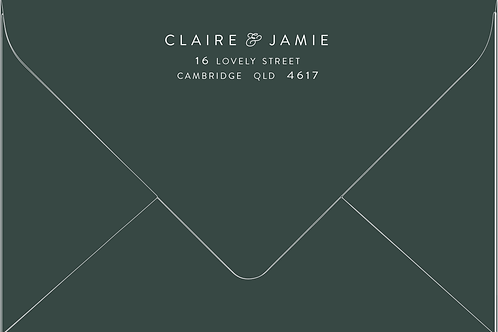 Printed Envelope   Claire