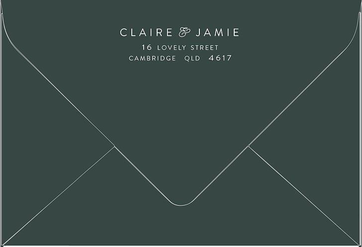 Claire Printed Envelope
