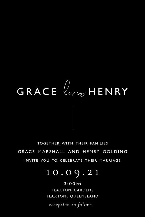 Wedding Invitation | Grace