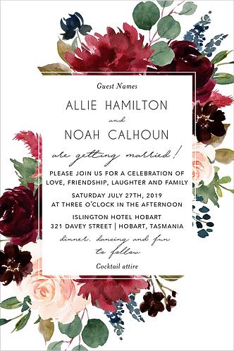 Allie Invitation