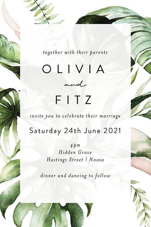 Wedding Invitation | Olivia
