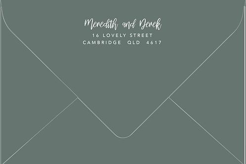 Printed Envelope | Meredith