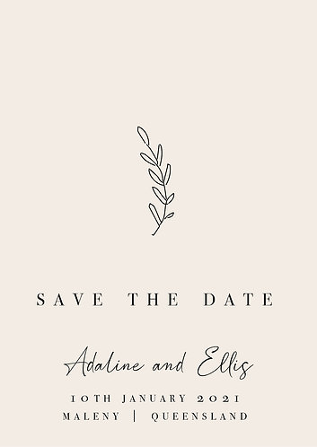 Adaline Save the Date