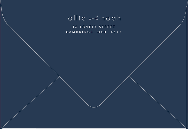 Allie Printed Envelope