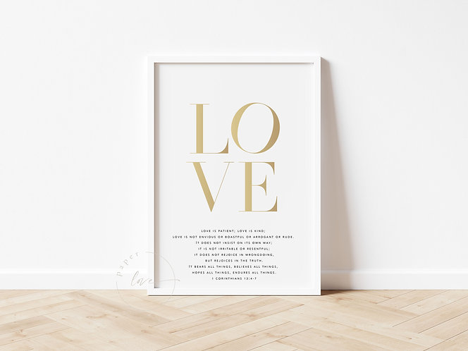 Inspired Prints   Love Is