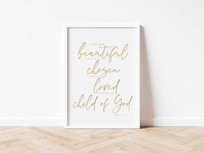 Inspired Prints   Gold Foil   You Are