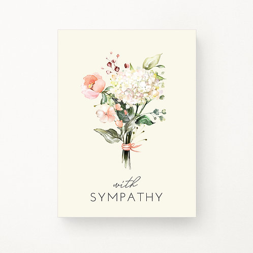 Greeting Cards | Floral bouquet with sympathy