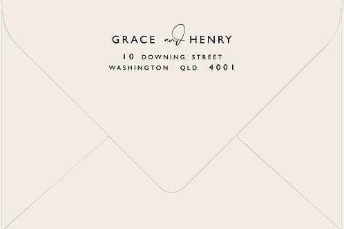 Printed Envelope | Grace