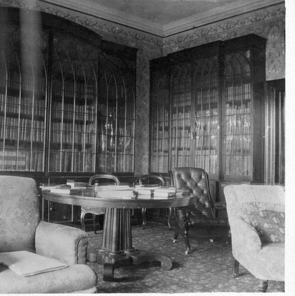 The library at Glanmore Castle