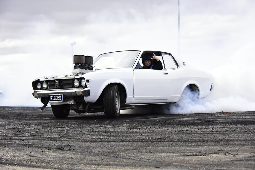 SHOW&GO-GALANT SHOW&GO-Participant from S.A ENTRANT: Derek Coulson VEHICLE: 1975 Chrysler Galant 2 Door ENGINE: 350 Chev LS -V-8-Naturally Aspirated EST HORSEPOWER: 270hp NUMBER PLATE: RIGGED EVENTS ENTERED IN: Show & Go, Burnouts, Track Cruise, Off Street Racing, Super Skids.
