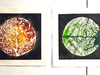 Bio Art Linocuts
