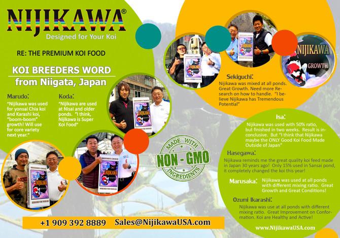 Japan Koi Breeders & Nijikawa Koi Food
