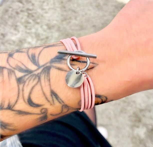 Bracelet cordon slash zéro acier