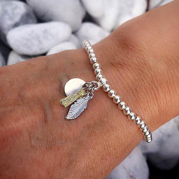 Bracelet élastique breloques argent