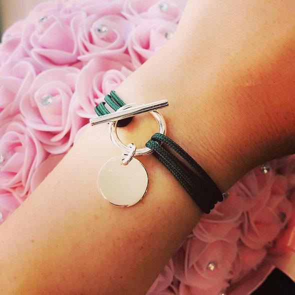 Bracelet slash zéro argent cordon