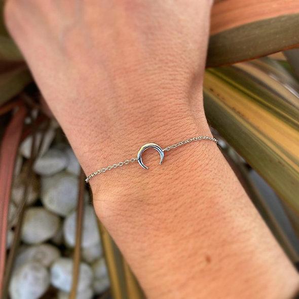 Bracelet demi lune argent