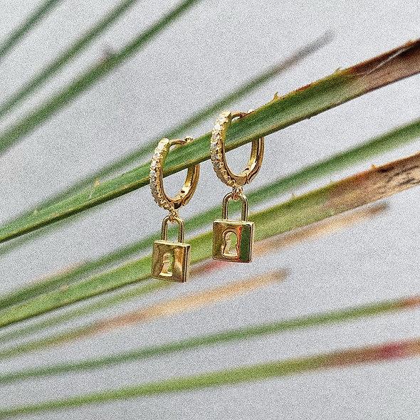 Créoles cadenas doré