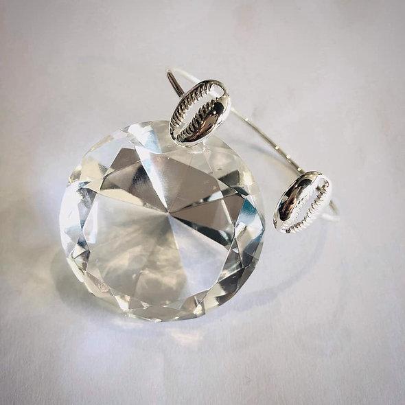Bracelet cauri argent